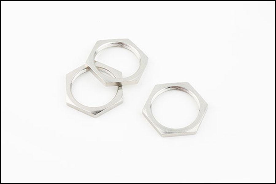 メッキCNC旋削鋼-真鍮カムロックハウジングナット