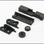 黒い陽極酸化されたアルミニウム6061-CNC-け機械部品