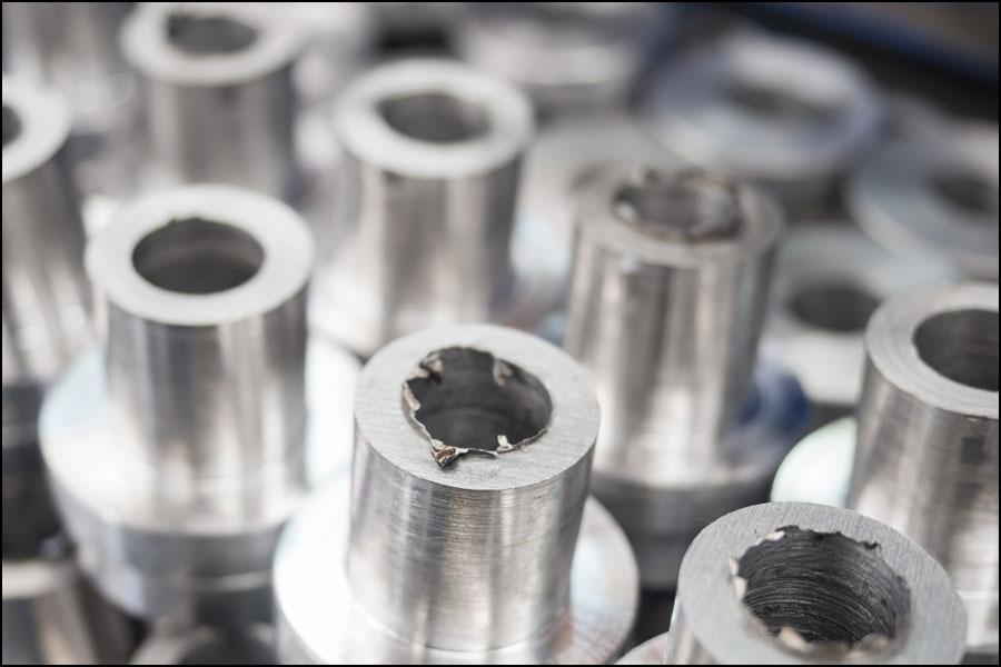 機械加工に使用されるアルミニウム