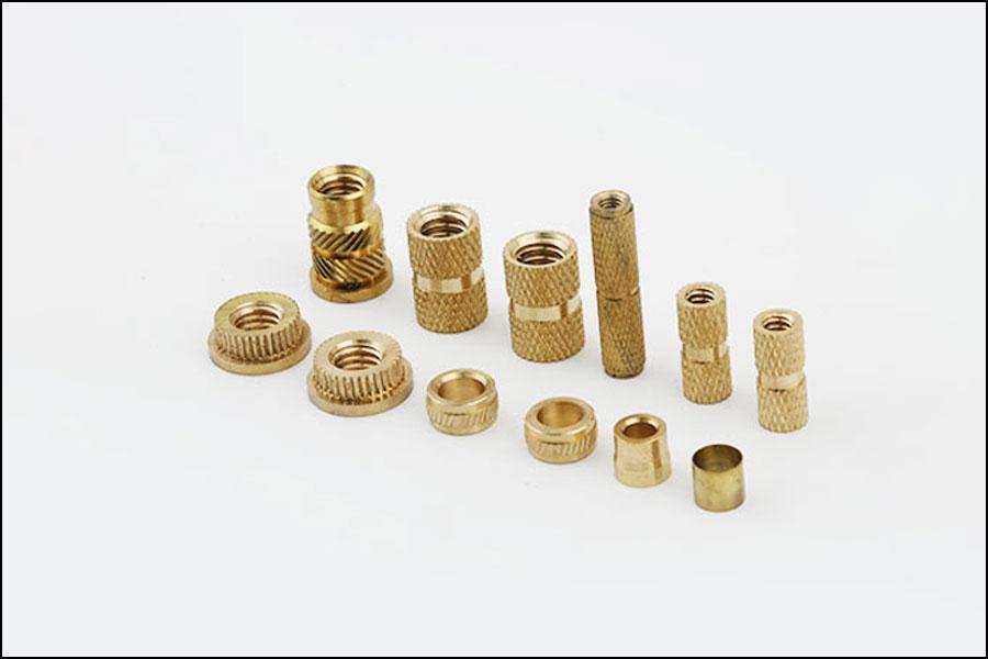 精密ローレット真鍮CNC旋盤加工部品