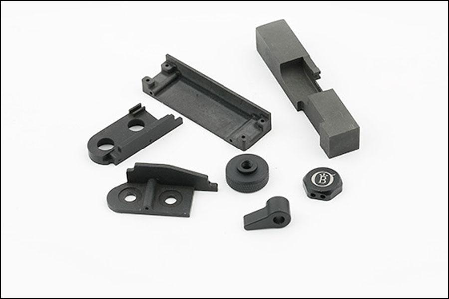 黒い酸化物CNC-7075-T6アルミ加工部品