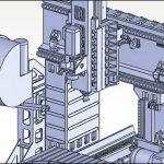細い棒状工具の加工の精密分析